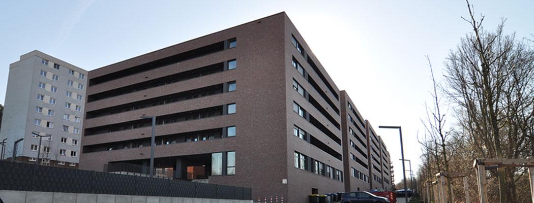 Neubau Wohnappartments für Studierende, Bauherr Studierendenwerk Aachen, Planung Puppendahl Architektur Olfen, Objektplanung: Leistungsphasen 6-9
